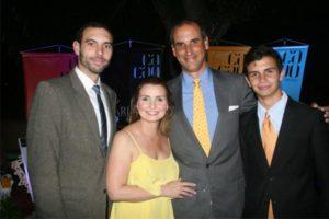 Bernardo Machado, Patricia de Lander, Carlos Lander y Bernardo Lander