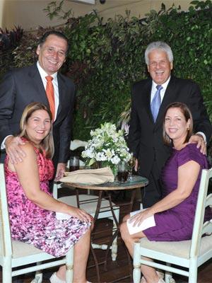 Raúl Vallenilla, Trina de Vallenilla, Jorge Schoeleter y Marisol de Schoeleter