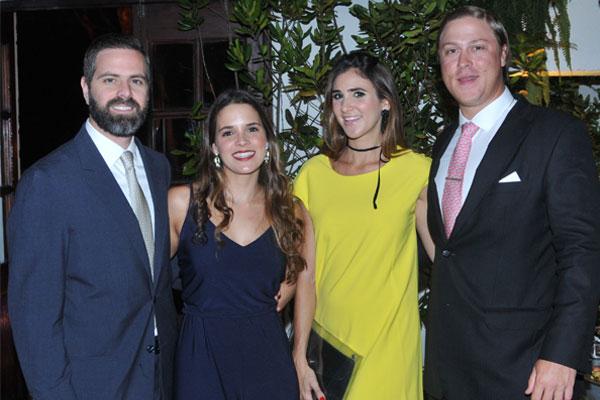 Juan Andrés Yepes, María Antonia de Yepes, Sonia de Moser y Karl Moser.