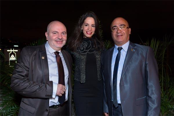 Gabriel Obayi, Kathyna Pinto y Jesús Pereira